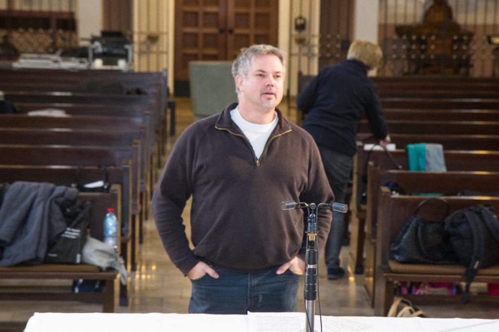 Christoph Pütter leitet den Soundcheck für die CD-Aufnahme am Samstagnachmittag.