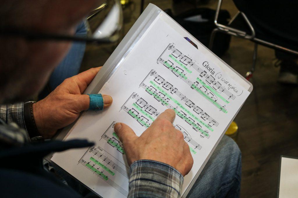 Die eigene Stimme wird farbig markiert. Foto: Kultur Pur/Ulrich Bock