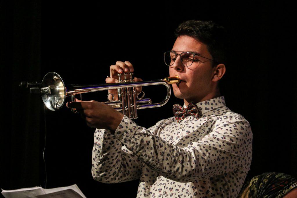 Vincent Höhle an der Trompete. Foto: Kultur Pur/Ulrich Bock