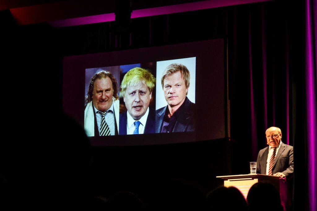 Boris Johnson ist vom Aussehen her ganz offensichtlich der uneheliche Sohn von Oliver Kahn und Gérard Depardieu. Foto: Kultur Pur/Ulrich Bock