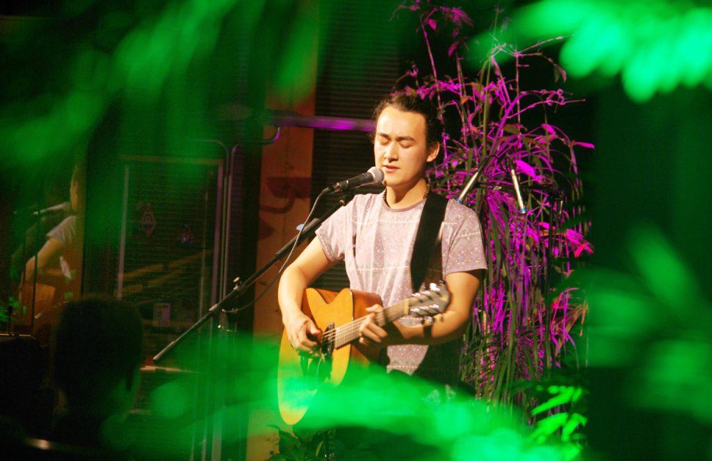 Der Singer-Songwriter Björn Tillmann gefiel mit anspruichsvollen Texten und ungewöhnlichen Sounds. Foto: Kultur Pur/Ulrich Bock