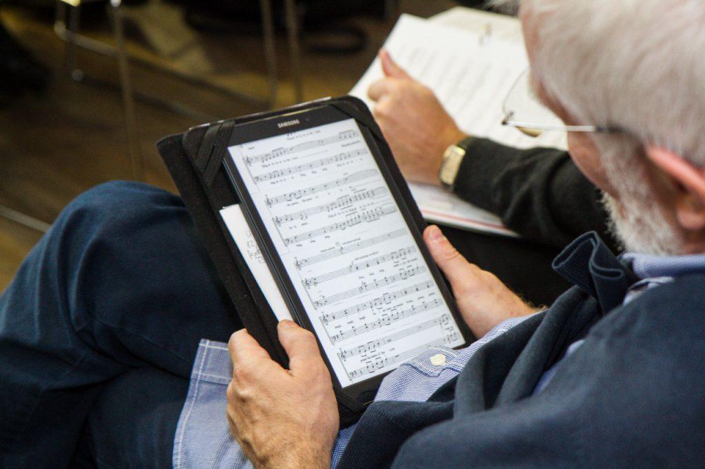 Notenscans auf dem Tablet - raschelt nicht!