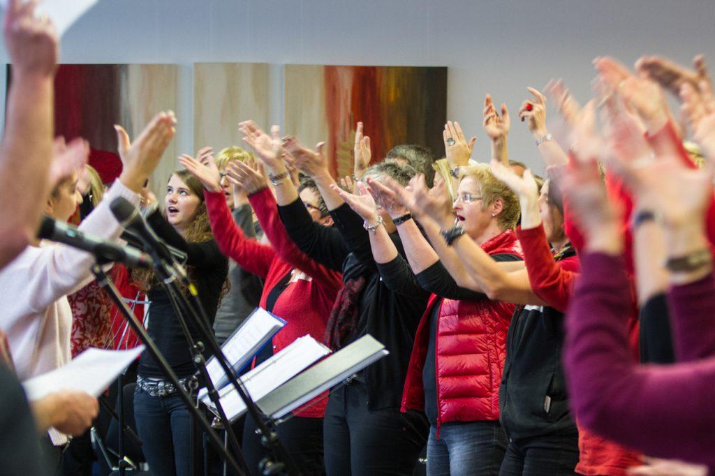 Im Bergkloster herrscht richtig Stimmung Foto: Kultur Pur/Ulrich Bock