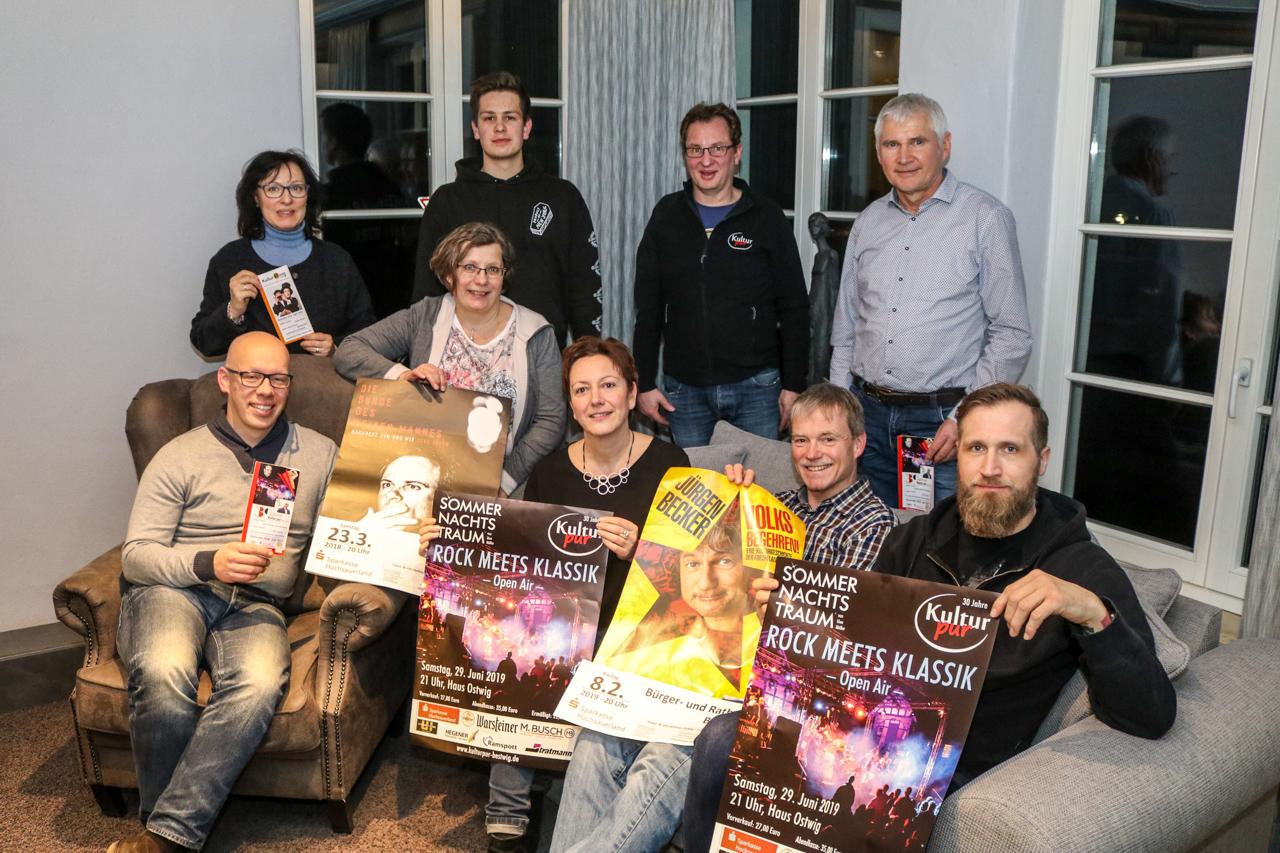 Der Vorstand von Kultur Pur für das Veranstaltungsjahr 2019. Foto: Kultur Pur/Markus Barg
