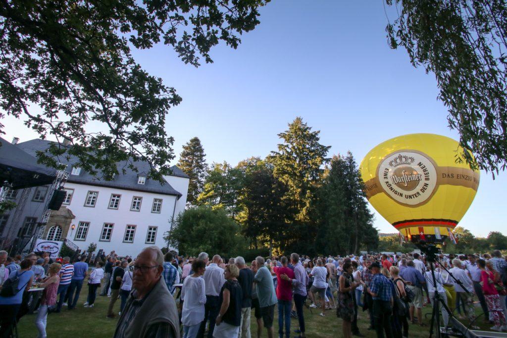 Der Heißluftballon steht. Foto: Kultur Pur/Ulrich Bock