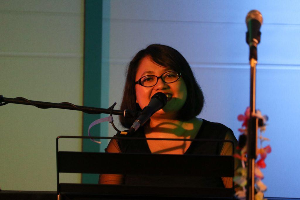 Agnes Haspari singt die Titelmelodie von Pocahontas. Foto: Kultur Pur/Ulrich Bock
