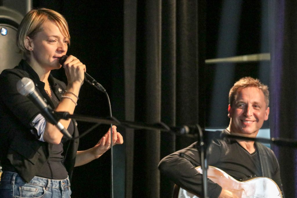 Sängerin Cristin Claas und Gitarrist Stephan Bormann. Kultur Pur/Ulrich Bock