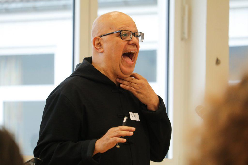 """Durch die Nase zu singen ist etwas anderes als hinter der Nase zu singen."""" Foto: Kultur Pur/Ulrich Bock"""
